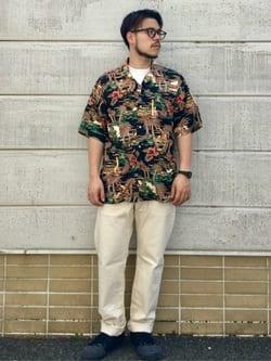 TOKYO HARAJUKU店のSHIZUKUさんのEDWINの【コンセプトショップ限定】EDWIN x reyn spooner VINTAGE RAYON SHIRTSを使ったコーディネート