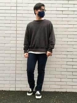 TOKYO HARAJUKU店のSHIZUKUさんのEDWINのジャージーズ レギュラーストレート【エントリーモデル】を使ったコーディネート