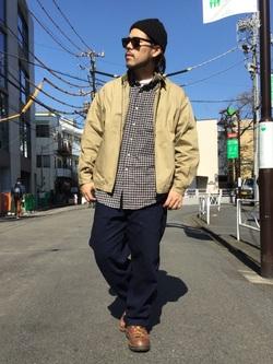 TOKYO HARAJUKU店のSHIZUKUさんのEDWINの【コンセプトショップ限定】ZIP UP JKTを使ったコーディネート