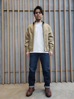 TOKYO HARAJUKU店のSHIZUKUさんのEDWINの【コンセプトショップ限定】REGULER STRAIGHT 【レングス81.5cm】を使ったコーディネート