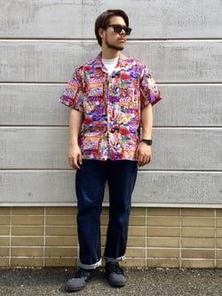 TOKYO HARAJUKU店のSHIZUKUさんのEDWINの【EDWIN 60周年限定】 半袖シャツを使ったコーディネート