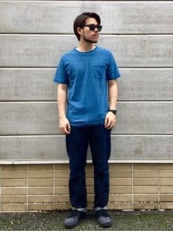 TOKYO HARAJUKU店のSHIZUKUさんのEDWINの【コンセプトショップ限定】REGULER STRAIGHT ボタンフライ 【レングス82cm】を使ったコーディネート