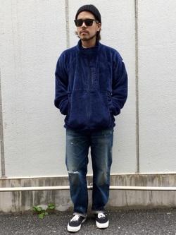 TOKYO HARAJUKU店のSHIZUKUさんのEDWINの【コンセプトショップ限定】F.L.E NAVY PACK  LEVEL3 FLEECE JACKETを使ったコーディネート