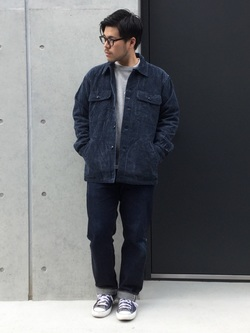 TOKYO HARAJUKU店のSHIZUKUさんのEDWINの【コンセプトショップ限定】INDIGO GARMENTS FATIGUE JACKETを使ったコーディネート