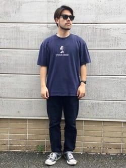 TOKYO HARAJUKU店のSHIZUKUさんのEDWINの【SALE】【コンセプトショップ限定】EDWIN EUROPE INNER SELF TEEを使ったコーディネート