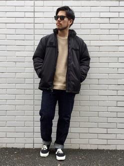 TOKYO HARAJUKU店のSHIZUKUさんのEDWINの【コンセプトショップ限定】CREWNECK KNITを使ったコーディネート
