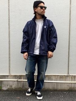 TOKYO HARAJUKU店のSHIZUKUさんのEDWINの【コンセプトショップ限定】F.L.E NAVY PACK  LEVEL4 LIGHT JACKETを使ったコーディネート