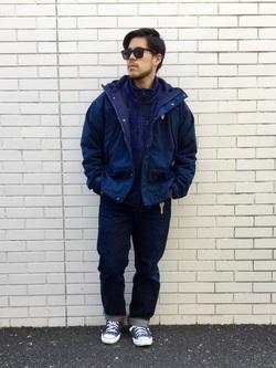 TOKYO HARAJUKU店のSHIZUKUさんのEDWINの【Winter sale】【コンセプトショップ限定】F.L.E NAVY PACK  LEVEL6 SOFT JACKETを使ったコーディネート