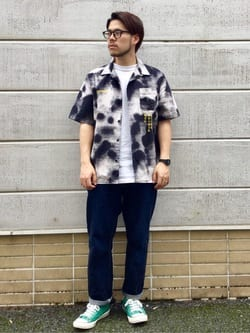 TOKYO HARAJUKU店のSHIZUKUさんのEDWINの【TOPS 15%OFFクーポン対象】【SALE】【コンセプトショップ限定】EDWIN EUROPE PHOTO COPY SHIRTを使ったコーディネート