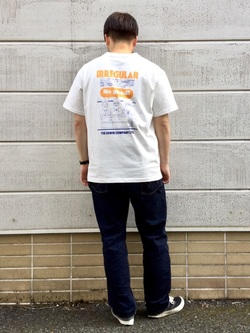 TOKYO HARAJUKU店のSHIZUKUさんのEDWINの【EDWIN 60周年限定】 クルーネック 半袖Tシャツ Cを使ったコーディネート