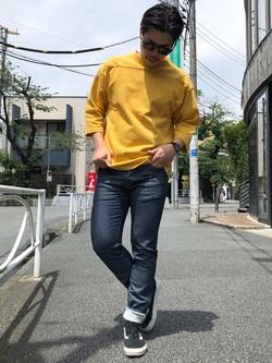 TOKYO HARAJUKU店のSHIZUKUさんのEDWINの【コンセプトショップ限定】FOOTBALL TEEを使ったコーディネート