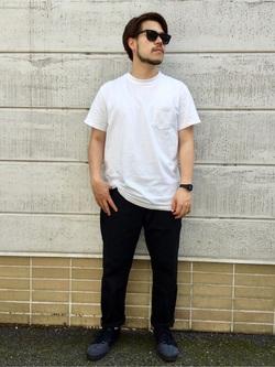 TOKYO HARAJUKU店のSHIZUKUさんのEDWINの【コンセプトショップ限定】REGULER TAPERED ボタンフライ 【レングス71.5cm】を使ったコーディネート