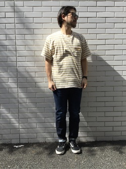 TOKYO HARAJUKU店のSHIZUKUさんのEDWINの【コンセプトショップ限定】SLIM TAPERED 【レングス81.5cm】を使ったコーディネート