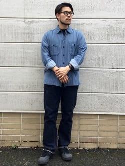 TOKYO HARAJUKU店のSHIZUKUさんのEDWINの【SALE】【コンセプトショップ限定】レディース INDIGO GARMENTS CPOシャツ 長袖を使ったコーディネート