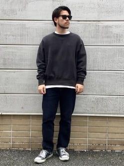 TOKYO HARAJUKU店のSHIZUKUさんのEDWINの【コンセプトショップ限定】CREW NECK SWEAT SHIRTSを使ったコーディネート