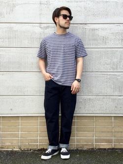 TOKYO HARAJUKU店のSHIZUKUさんのEDWINの【コンセプトショップ限定】BORDER TEEを使ったコーディネート