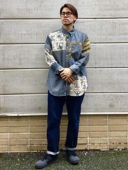 TOKYO HARAJUKU店のSHIZUKUさんのEDWINの【コンセプトショップ限定】EDWIN x reyn spooner SWITCH PATTERN SHIRTSを使ったコーディネート