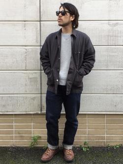 TOKYO HARAJUKU店のSHIZUKUさんのEDWINの【コンセプトショップ限定】REGULAR STRAIGHT KIBATA 【レングス81.5cm】を使ったコーディネート