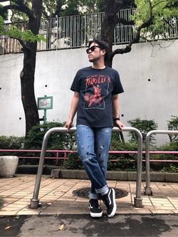 TOKYO HARAJUKU店のSHIZUKUさんのEDWINの【コンセプトショップ限定】EDWIN EUROPE REGULER TAPEREDを使ったコーディネート