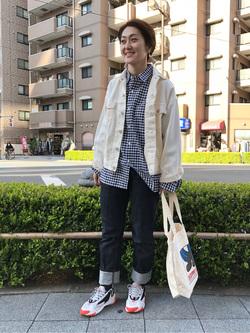 日暮里駅前店のIkumiさんのEDWINの503 レギュラーストレートを使ったコーディネート