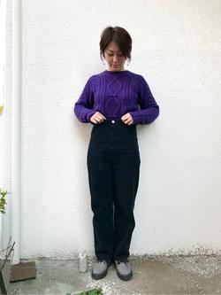 日暮里駅前店のIkumiさんのSOMETHINGの【再値下げSALE】SOMETHING バルーン ワイドを使ったコーディネート