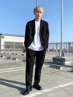 エスパル仙台店のkaedeさんのLeeの【ユニセックス】バックプリント 半袖Tシャツを使ったコーディネート