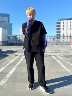 エスパル仙台店のkaedeさんのLeeのワンポイントロゴ刺繍ポケット付きTシャツ/長袖を使ったコーディネート