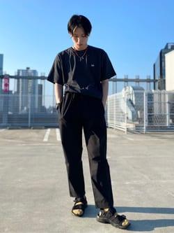 エスパル仙台店のkaedeさんのLeeの【再値下げSALE】バックプリント 半袖Tシャツを使ったコーディネート