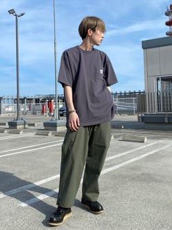 エスパル仙台店のkaedeさんのLeeの【SALE】ポケット付き 半袖Tシャツを使ったコーディネート
