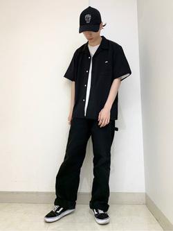 Lee アミュプラザ博多店のTakeshiさんのLeeの終了【サマーセール】オープンカラーシャツ 半袖(POPLIN WASHER)を使ったコーディネート