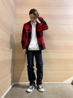Lee アミュプラザ博多店のTakeshiさんのLeeのAMERICAN RIDERS 101Z ストレートジーンズを使ったコーディネート