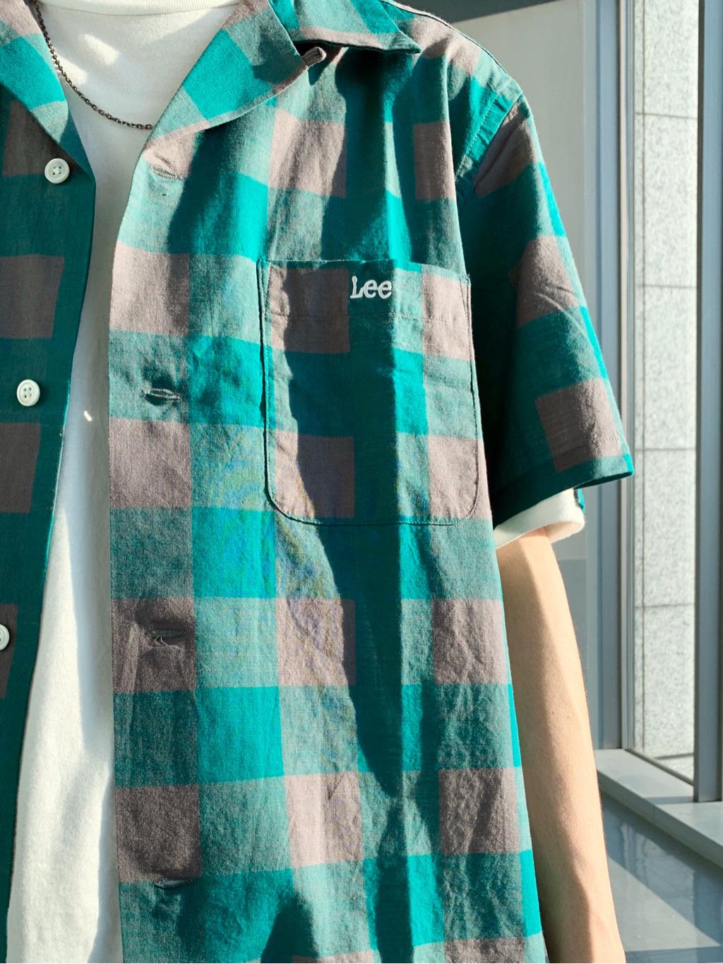 Lee アミュプラザ博多店のTakeshiさんのLeeの【Winter sale】オープンカラーシャツ 半袖(ブロックチェック)を使ったコーディネート