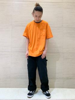 Lee アミュプラザ博多店のTakeshiさんのLeeの【ガレージセール】ポケットTシャツ 半袖を使ったコーディネート