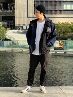 LINKS UMEDA店のKo-jiさんのEDWINのF.L.E ブリスク ジョガーを使ったコーディネート