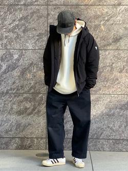 LINKS UMEDA店のKo-jiさんのEDWINの【Winter sale】F.L.E パーカー(ダンボールニット)を使ったコーディネート