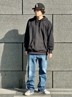 LINKS UMEDA店のKo-jiさんのEDWINの【直営店限定】スウェットパーカー(ヴィンテージ仕様)を使ったコーディネート