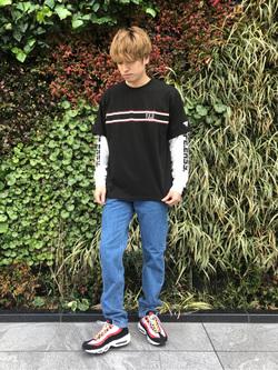 LINKS UMEDA店のKo-jiさんのEDWINの終了【サマーセール】F.L.E プリントTシャツ 長袖 Cを使ったコーディネート