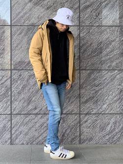 LINKS UMEDA店のKo-jiさんのEDWINのジャージーズ スキニー【スタンダードモデル】を使ったコーディネート