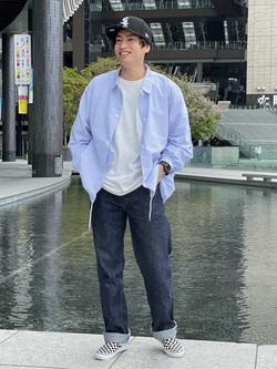 LINKS UMEDA店のKo-jiさんのEDWINのコーチジャケット (BOXフィット)を使ったコーディネート
