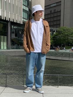 LINKS UMEDA店のKo-jiさんのEDWINのワイドカラーチェックシャツ 長袖を使ったコーディネート