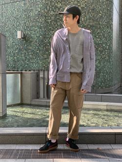 LINKS UMEDA店のKo-jiさんのEDWINの【直営店限定】【親子コーデができる】クルーネックポケットTシャツ 半袖 【110-180cm】を使ったコーディネート