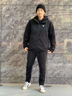 LINKS UMEDA店のKo-jiさんのEDWINの【再値下げ Winter sale】F.L.E ジョガーパンツ (フリースニット)を使ったコーディネート