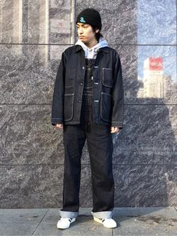 LINKS UMEDA店のKo-jiさんのEDWINの【Winter sale】カバーオール (USMC M-41タイプ)を使ったコーディネート