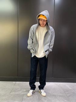 LINKS UMEDA店のKo-jiさんのEDWINの【シークレットセーール!!】COOL FLEX レギュラーストレート (二重織 COOL Denim)を使ったコーディネート