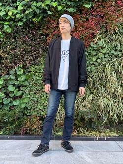 LINKS UMEDA店のKo-jiさんのEDWINの終了【サマーセール】F.L.E プリントTシャツ 長袖 Aを使ったコーディネート