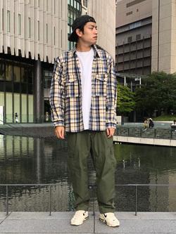 LINKS UMEDA店のKo-jiさんのEDWINのミリタリーチェックネルシャツ 長袖(US NAVY CPO SHIRTSタイプ)を使ったコーディネート