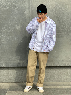 LINKS UMEDA店のKo-jiさんのEDWINの【直営店限定】ペインターパンツを使ったコーディネート