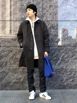 LINKS UMEDA店のKo-jiさんのEDWINの【再値下げ Winter sale】バルマカーンコート(US NAVY RAINCOAT タイプ)を使ったコーディネート