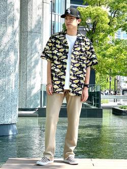 LINKS UMEDA店のKo-jiさんのEDWINの【SALE】ジャージーズ COOL レギュラーストレートを使ったコーディネート