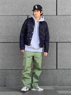 LINKS UMEDA店のKo-jiさんのALPHAのジャングルカーゴパンツを使ったコーディネート